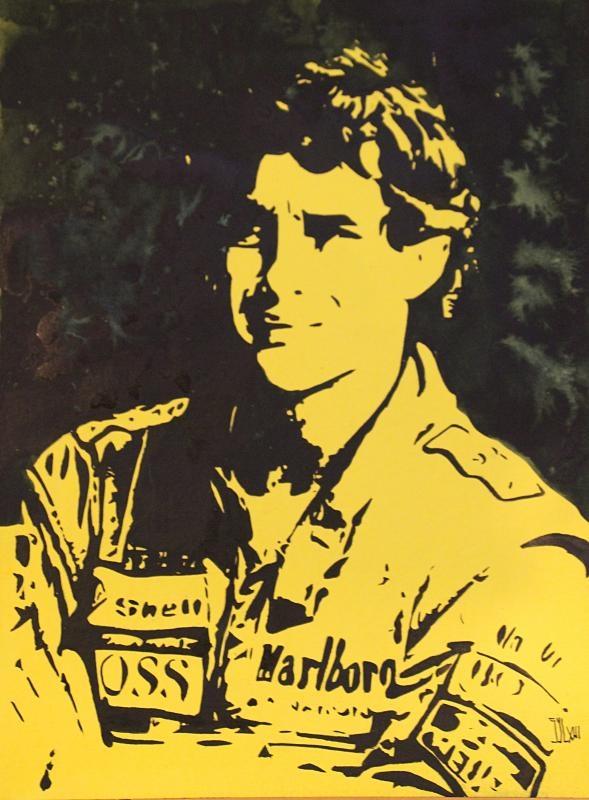 Ayrton Senna by aquarelle-autrement